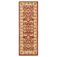 """Unique Loom Hickory Agra 2'2"""" X 6' Runner Powerloomed in Red"""
