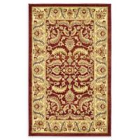 """Unique Loom Hickory Agra 3'3"""" X 5' Powerloomed Area Rug in Red"""