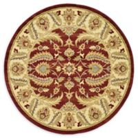 Unique Loom Hickory Agra 6' Round Powerloomed Area Rug in Red