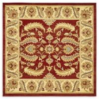 Unique Loom Hickory Agra 6' X 6' Powerloomed Area Rug in Red