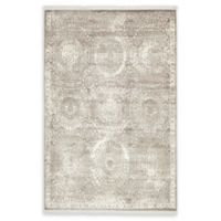 Unique Loom Iris Arcadia 4' X 6' Powerloomed Area Rug in Gray