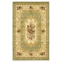 "Unique Loom Henry Versailles 3'3"" X 5' Powerloomed Area Rug in Green"