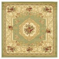 Unique Loom Henry Versailles 4' X 4' Powerloomed Area Rug in Green