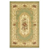 Unique Loom Henry Versailles 5' X 8' Powerloomed Area Rug in Green