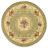 Unique Loom Henry Versailles 6' Round Powerloomed Area Rug in Green