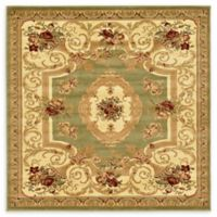 Unique Loom Henry Versailles 6' X 6' Powerloomed Area Rug in Green