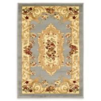 "Unique Loom Henry Versailles 2'2"" X 3' Powerloomed Area Rug in Light Blue"