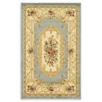 "Unique Loom Henry Versailles 3'3"" X 5' Powerloomed Area Rug in Light Blue"