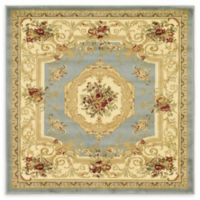 Unique Loom Henry Versailles 4' X 4' Powerloomed Area Rug in Light Blue