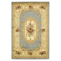 Unique Loom Henry Versailles 4' X 6' Powerloomed Area Rug in Light Blue