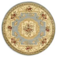 Unique Loom Henry Versailles 6' Round Powerloomed Area Rug in Light Blue