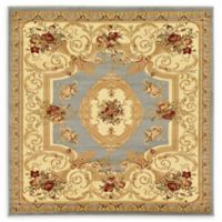 Unique Loom Henry Versailles 6' X 6' Powerloomed Area Rug in Light Blue