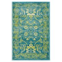 Unique Loom Istanbul Ottoman 2' X 3' Powerloomed Area Rug in Blue