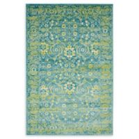 Unique Loom Istanbul Ottoman 4' X 6' Powerloomed Area Rug in Blue