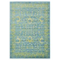 Unique Loom Istanbul Ottoman 7' X 10' Powerloomed Area Rug in Blue