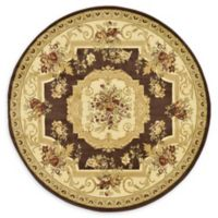 Unique Loom Henry Versailles 6' Round Powerloomed Area Rug in Brown