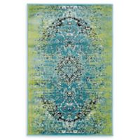 Unique Loom Istanbul Sultan 2' X 3' Powerloomed Area Rug in Blue