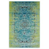 Unique Loom Istanbul Sultan 4' X 6' Powerloomed Area Rug in Blue