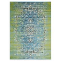 Unique Loom Istanbul Sultan 7' X 10' Powerloomed Area Rug in Blue