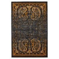 Unique Loom Istanbul Anatolla 2' X 3' Powerloomed Area Rug in Black