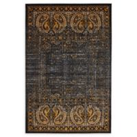 Unique Loom Istanbul Anatolla 4' X 6' Powerloomed Area Rug in Black