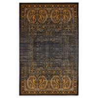 Unique Loom Istanbul Anatolla 5' X 8' Powerloomed Area Rug in Black