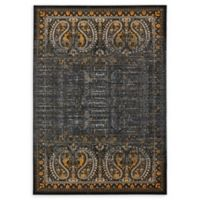 Unique Loom Istanbul Anatolla 7' X 10' Powerloomed Area Rug in Black