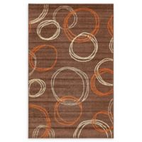 Unique Loom Harvest Cornucopia 5' X 8' Powerloomed Area Rug in Brown