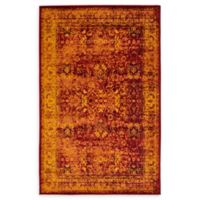 Unique Loom Istanbul Bosphorus 5' X 8' Powerloomed Area Rug in Red