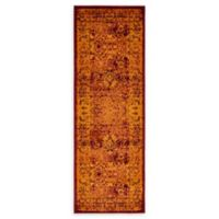 Unique Loom Istanbul Bosphorus 6' Runner Powerloomed in Red