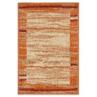 Unique Loom Harvest Foilage 2' X 3' Powerloomed Area Rug in Terracotta