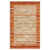 Unique Loom Harvest Foilage 5' X 8' Powerloomed Area Rug in Terracotta