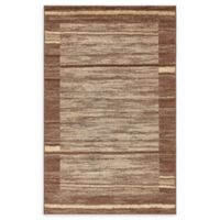 Unique Loom Harvest Foilage 5' X 8' Powerloomed Area Rug in Brown
