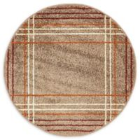 Unique Loom Harvest Heritage 3' Round Powerloomed Area Rug in Light Brown
