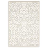 Unique Loom Himalaya Johnson 4' X 6' Powerloomed Area Rug in Snow White