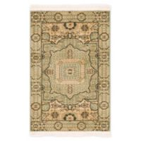 "Unique Loom Jackson Palace 2'2"" X 3' Powerloomed Area Rug in Light Green"