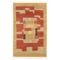 """Unique Loom Jefferson Nomad 3'3"""" X 5' Powerloomed Area Rug in Rust Red"""