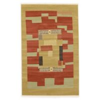 Unique Loom Jefferson Nomad 5' X 8' Powerloomed Area Rug in Rust Red