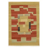Unique Loom Jefferson Nomad 7' X 10' Powerloomed Area Rug in Rust Red