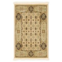 Unique Loom Jefferson Palace 2' X 3' Powerloomed Area Rug in Cream