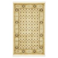 "Unique Loom Jefferson Palace 3'3"" X 5' Powerloomed Area Rug in Cream"