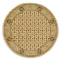 Unique Loom Jefferson Palace 6' Round Powerloomed Area Rug in Cream