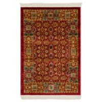 Unique Loom Jefferson Palace 2' X 3' Powerloomed Area Rug in Red