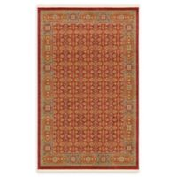Unique Loom Jefferson Palace 5' X 8' Powerloomed Area Rug in Red