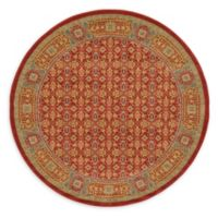 Unique Loom Jefferson Palace 6' Round Powerloomed Area Rug in Red
