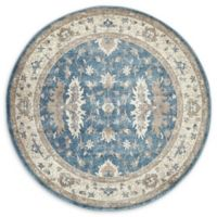 Unique Loom Itzling Salzburg 5' Round Powerloomed Area Rug in Light Blue
