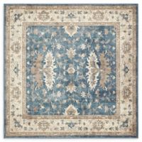 Unique Loom Itzling Salzburg 5' X 5' Powerloomed Area Rug in Light Blue