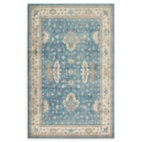 Unique Loom Itzling Salzburg 5' X 8' Powerloomed Area Rug in Light Blue