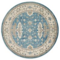 Unique Loom Itzling Salzburg 6' Round Powerloomed Area Rug in Light Blue