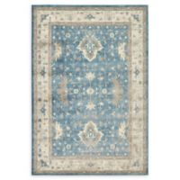 Unique Loom Itzling Salzburg 6' X 9' Powerloomed Area Rug in Light Blue